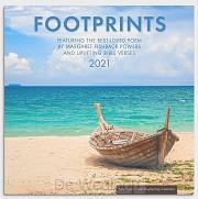 2021 Wall Calendar Footprints