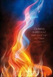 Wenskaart de liefde is een vuur