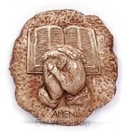 Wandbord gevouwen handen / bijbel