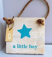 Wandbord little boy vierkant