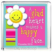 A Glad Heart Makes A Happy Face (Plastik