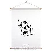 Christelijke textielposter You are loved