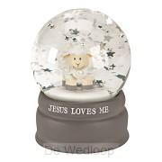 Waterglobe Lamb Jesus loves me
