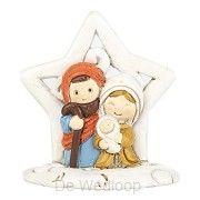 1 pc holy family in star 3,1x5,1cm