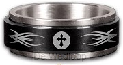 Tribal Cross (Colored Spiner Ring) Size