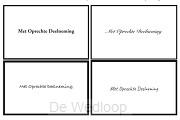 100 Enkele kaarten met envelop (los)