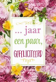 Wenskaart ... jaar getrouwd Gefeliciteer