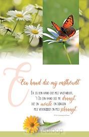 Wenskaart een hand die mij vasthoudt