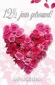 Wenskaart 12,5 jaar getrouwd