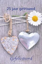 Wenskaart 25 jaar getrouwd