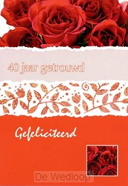 Wenskaart 40 jaar getrouwd