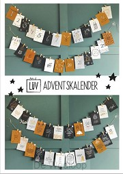 Adventskalender goud/zwart-wit