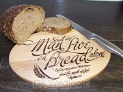 Man shall not live on bread alone - Wood
