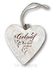 Geloof met heel je hart (Houten hart)