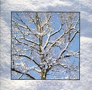 Wenskaart boom met sneeuw