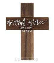 Wall cross amazing grace 30cm