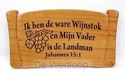 Wandbord 34x20 sv Ik ben de ware wijnsto