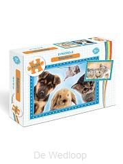 Babydieren - 2 Puzzels van 24 stukjes