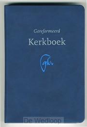 Gereformeerd kerkboek luxe blauw vivaldi