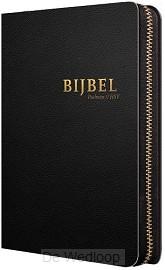 Bijbel HSV met Ps-zwart leer index rits