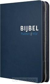 Bijbel HSV met Ps blauw leer index rits