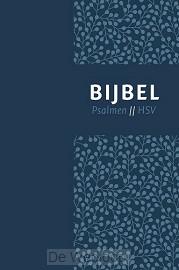 Bijbel HSV+ps-blauw leer index 12x18cm