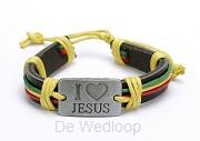 Armband i love Jezus rainbow
