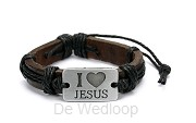 Armband i love Jezus
