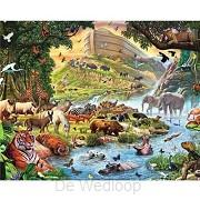 De dieren komen uit de Ark 40 x 30 cm