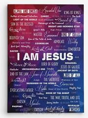 Wandbord A3 kunststof I am Jesus