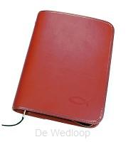 Bijbelhoes nbv 15.4x22.3x3.9 milano rood