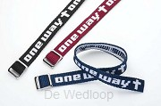 Armband geweven one way zwart