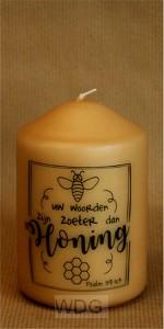 Kaars M 10cm Honingkaars
