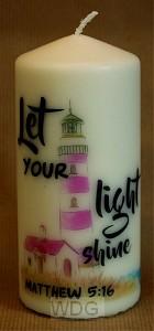 Kaars XL 15cm Lighthouse