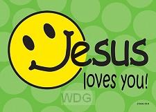 Postcard Jesus loves you set6
