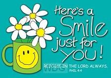 Postcard here's a smile set6