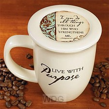 Coaster mug live with purpose