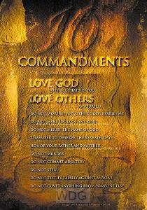 Poster a4 ten commandments