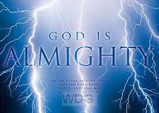 Wenskaart God is almachtig