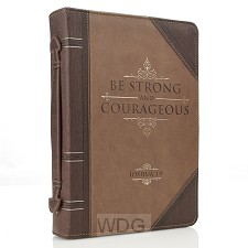 Be strong and courageous - LuxLeather