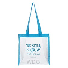 Be Still & Know Clear Tote Bag - Psalm 4
