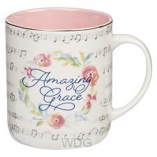Amazing Grace Floral Wreath Coffee Mug