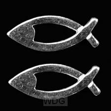 Oorstekers zilver vis 15mm