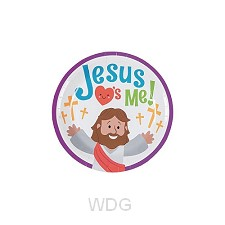 Paper plates Jesus loves me set8