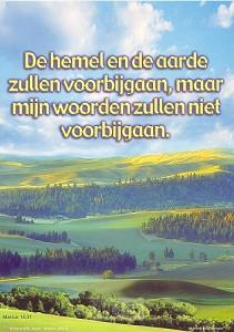 Poster a4 marcus 13:31 hemel en de aarde