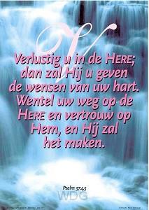 Poster a4 ps 37:45 verlustig u in de...