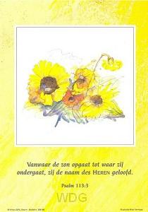 Poster a4 ps 113:3 vanwaar de zon opgaat