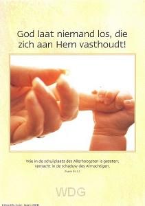 Poster a4 God laat niemand los die...