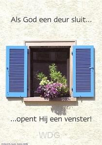 Poster a4 als God een deur sluit...