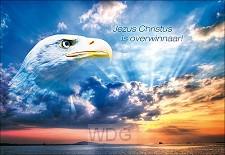 Wenskaart Jezus Christus is overwinnaar